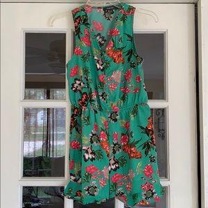 Pants - Green Floral Romper